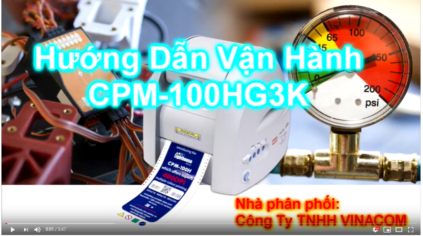 Manual for the label printing & cutting machine CPM-100 and software Bepop PC EX